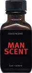 """tense muscles, moist skin and  specific smell. These are men in  action. That's the Man Scent!  Soft, clean, and strong  Fast start. Pleasant aroma. Calm down and  relax, you will have no headache afterwards.  Man Scent liquid aroma has been around forever, and with good reason -- it works!  Extremely popular in European saunas, Man Scent is a pure and powerful brand that is guaranteed to deliver a breathtaking climax.  Also available in the """"tall"""" 15ml bottle, as well as the jumbo 30ml square bottle.  Be a man and try some today!"""